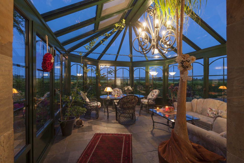 Une veranda retro et verte